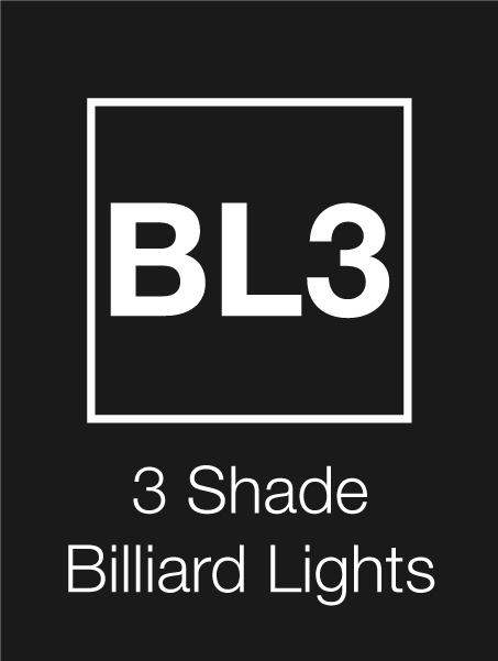 3 Shade Billiard Lights