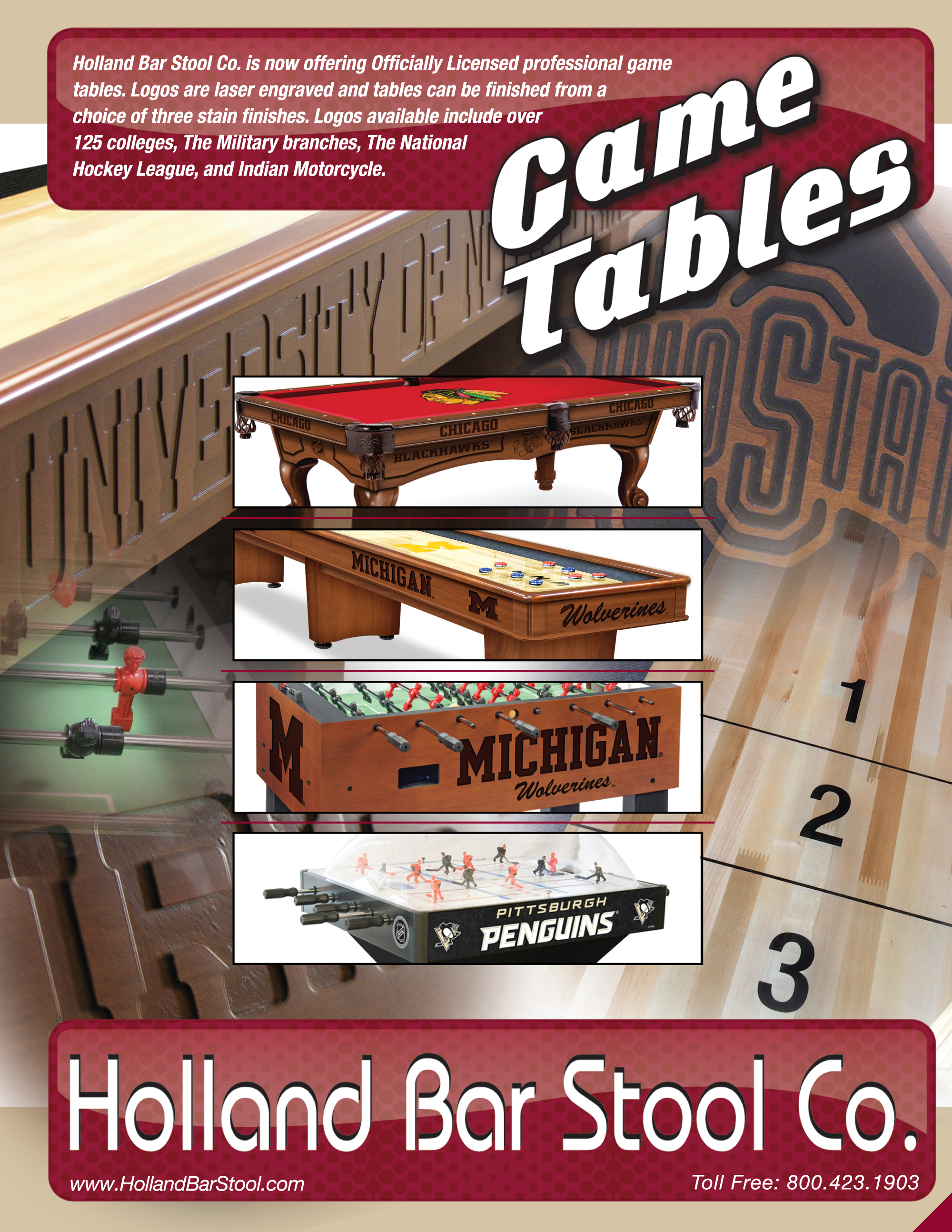 Game Room Series Product Categories