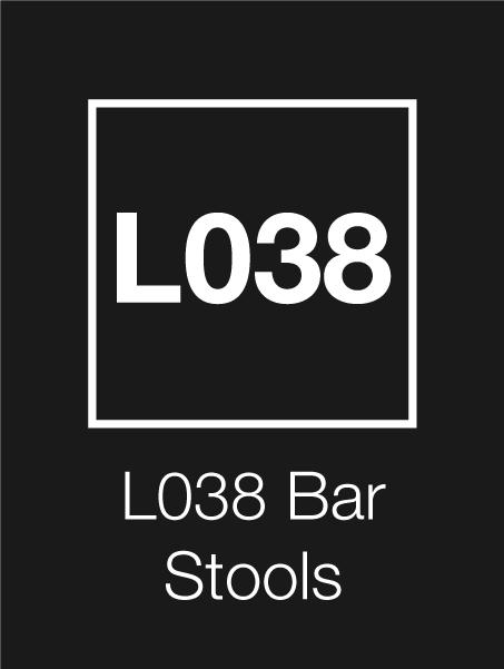 L038 Logo Bar Stools