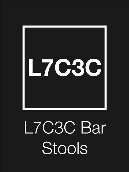 L7C3C Logo Bar Stools