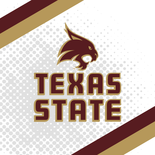 Texas State University College Teams Logo Series