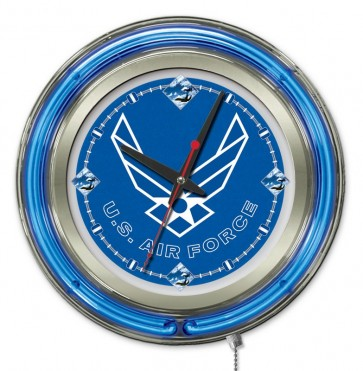United State Air Force 15 Inch Neon Clock