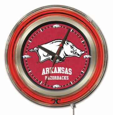 Arkansas 15 Inch Neon Clock
