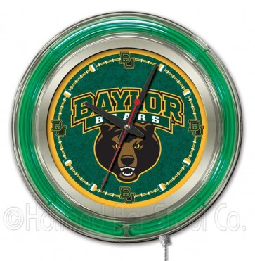 "15"" Neon College Logo Clock"