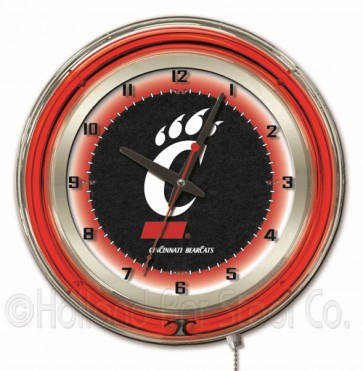 "19"" Neon College Logo Clock"