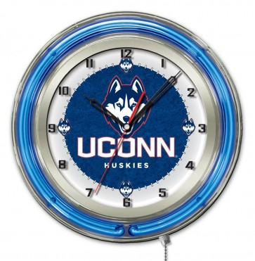 Connecticut 19 Inch Neon Clock