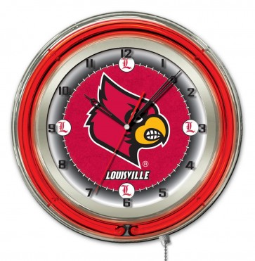 Louisville 19 Inch Neon Clock