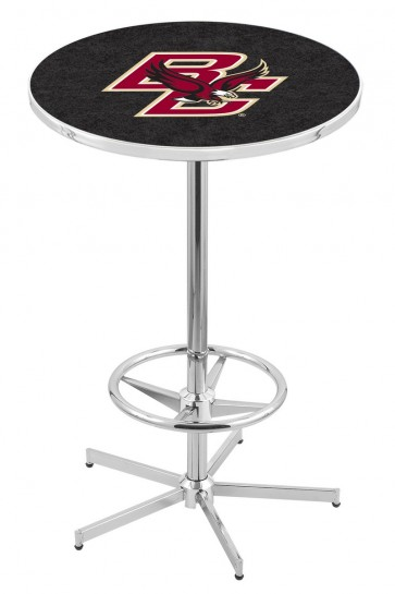 L216 Chrome Boston College Logo Pub Table