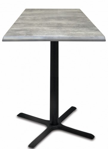 Square Greystone Table Top with 211 Outdoor Base