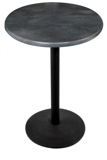Round Black Steel Table Top with 214 Outdoor Base