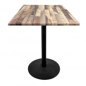 Square Rustic Table Top with 214 Outdoor Base