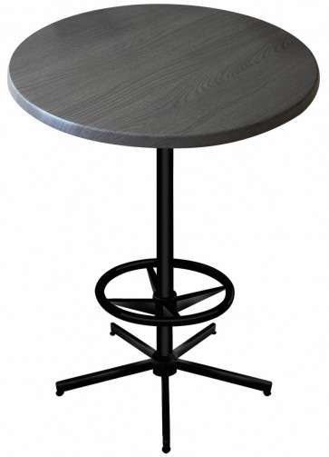 Round Charcoal Table Top with 216 Outdoor Base