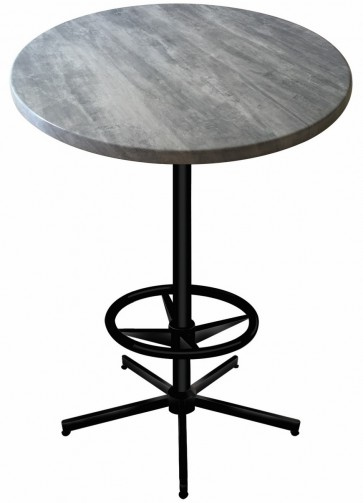 Round Greystone Table Top with 216 Outdoor Base