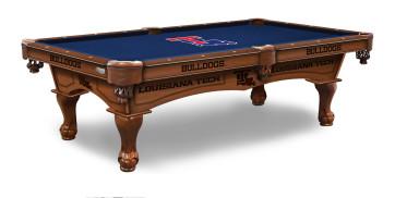 Louisiana Tech Pool Table With Logo Cloth
