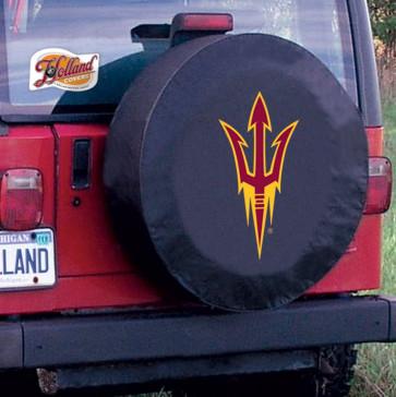 Arizona State Pitchfork Black Tire Cover Lifestyle