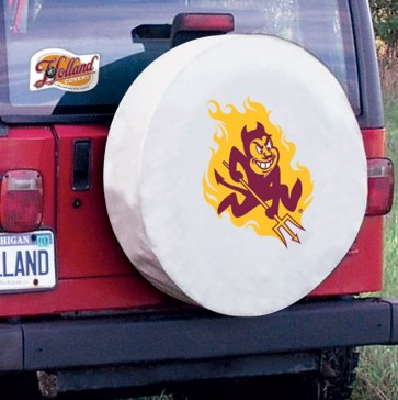 Arizona State Sparky White Tire Cover Lifestyle