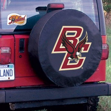 Boston College Black Tire Cover