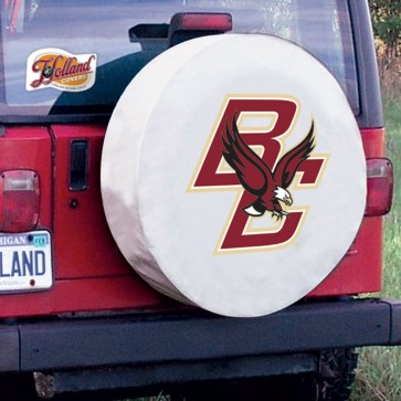 Boston College White Tire Cover Lifestyle
