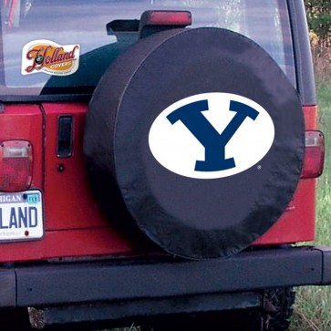 Brigham Young Black Tire Cover Lifestyle