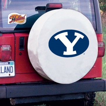 Brigham Young White Tire Cover Lifestyle