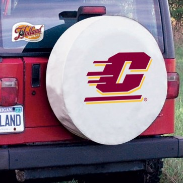 Central Michigan White Tire Cover Lifestyle