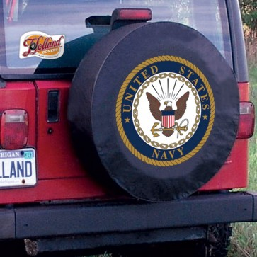 US Navy Logo Tire Cover - Black