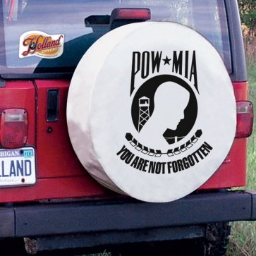 POW - MIA Logo Tire Cover - White