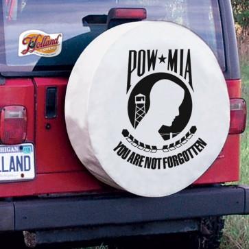 POW - MIA Logo Tire Cover - White