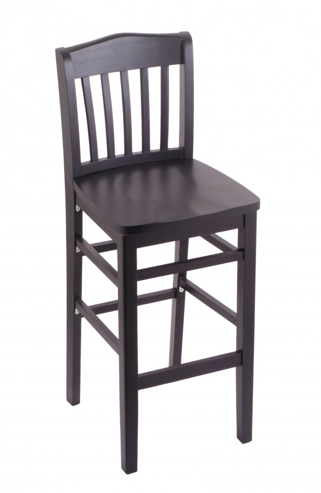 3110 Hampton Series Bar Stool In Black Finish