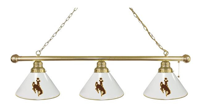 university of wyoming logo billiard light. Black Bedroom Furniture Sets. Home Design Ideas