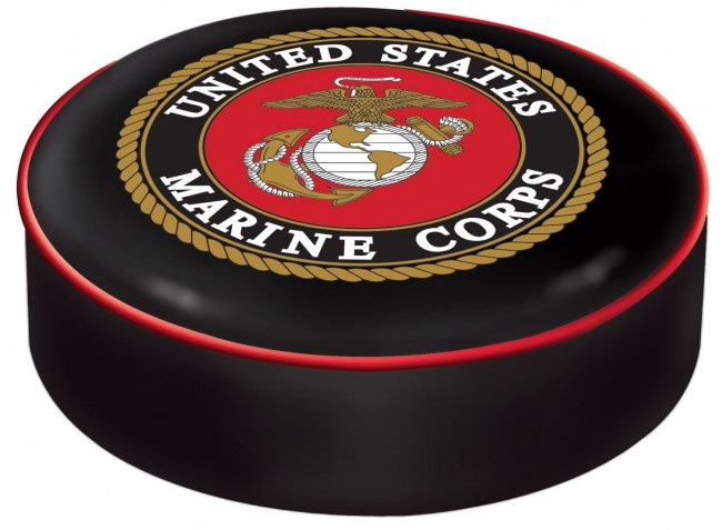 Us Marine Corps Logo Bar Stool Seat Cover