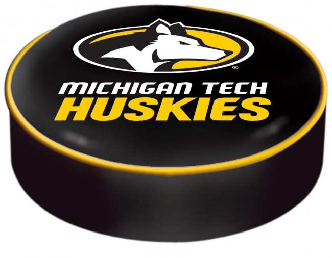 Michigan Tech Logo Bar Stool Seat Cover