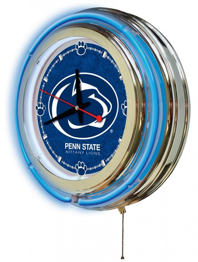 15 Inch Neon Pennsylvania State University Logo Clock