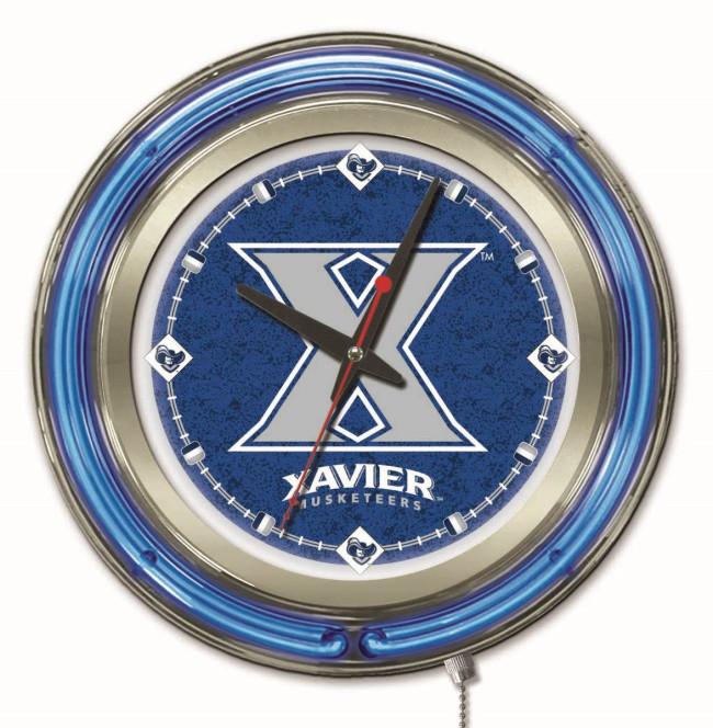 15 Inch Neon Xavier University Logo Clock