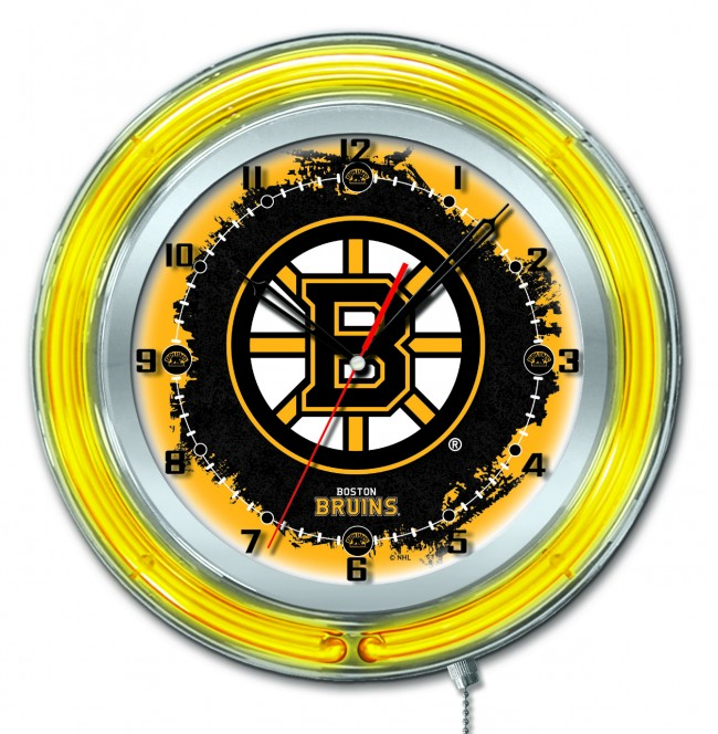 19 Inch Neon Boston Bruins 174 Logo Clock