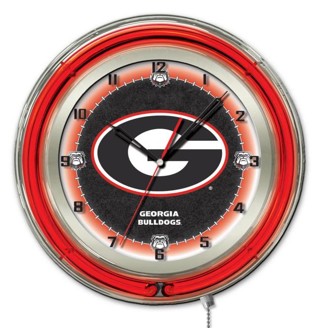 19 Inch Neon University of Georgia G Block Logo Clock : clk19ga g2 from hollandbarstool.com size 650 x 664 jpeg 106kB