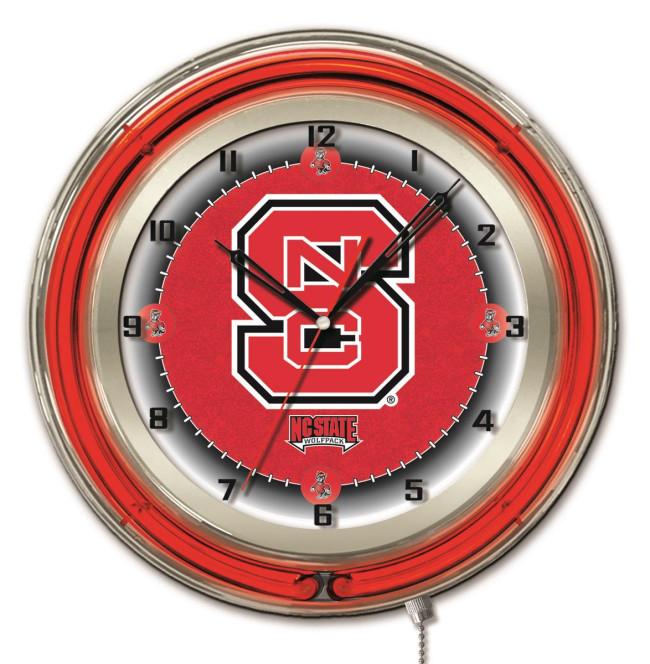 19 Inch Neon North Carolina State Logo Clock : clk19ncarst2 from hollandbarstool.com size 650 x 664 jpeg 102kB