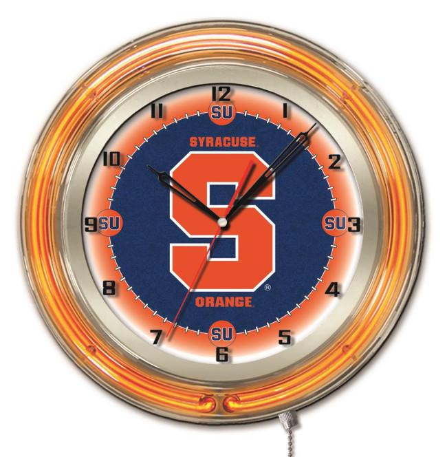 19 Inch Neon Syracuse University Logo Clock