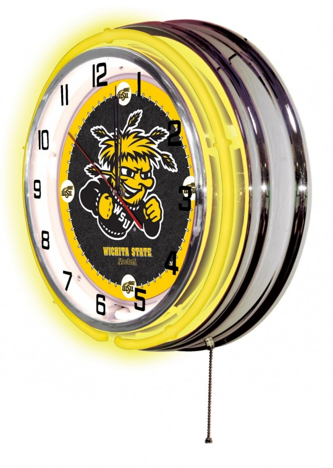 19 inch neon wichita state university logo clock