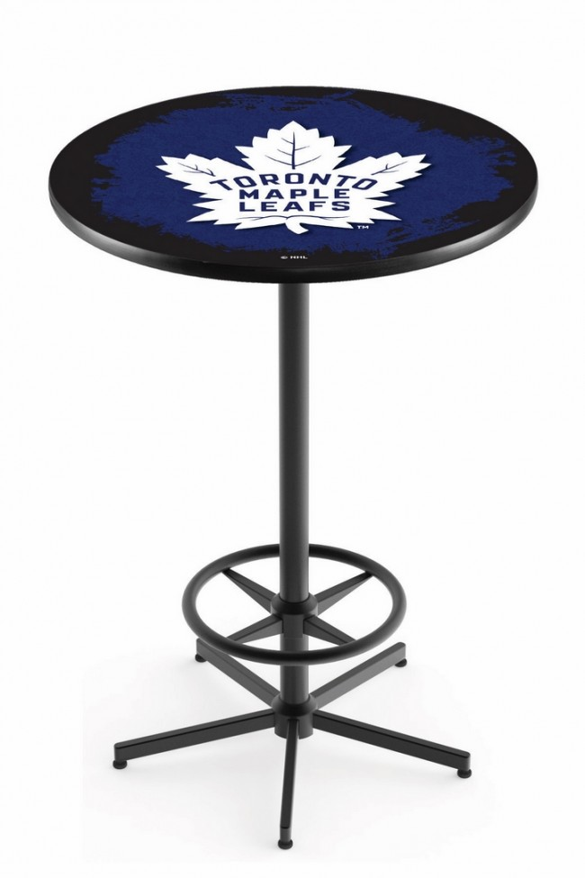 Astounding L216 Black Toronto Maple Leafs Logo Pub Table Home Interior And Landscaping Pimpapssignezvosmurscom