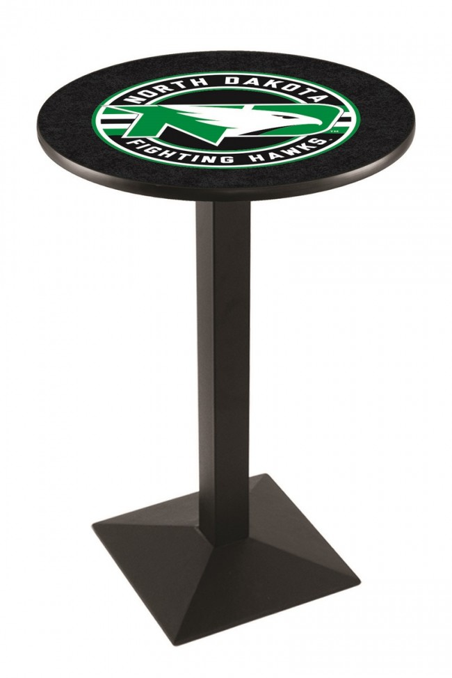 L217 Black Wrinkle University Of North Dakota Logo Pub Table