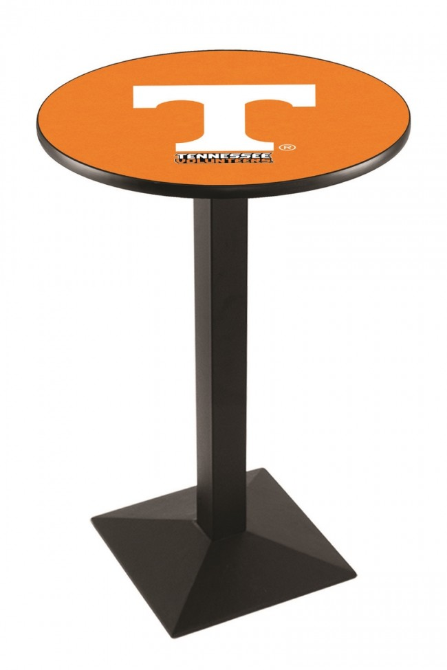 L217 Black Wrinkle University Of Tennessee Logo Pub Table