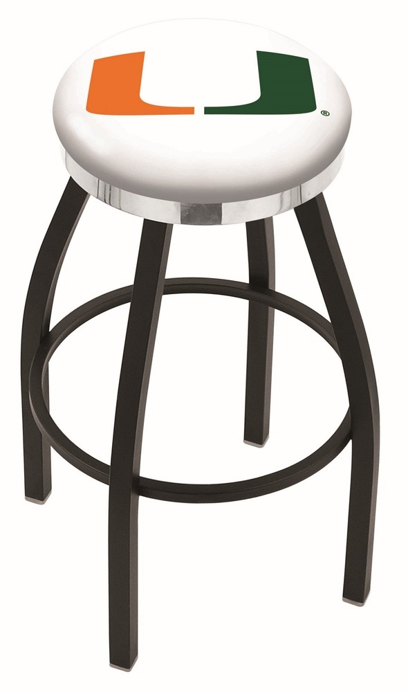 L8b2c University Of Miami Florida Logo Bar Stool