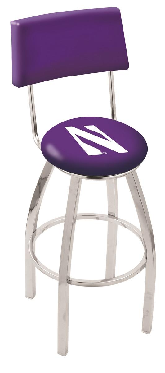 L8c4 Northwestern University Logo Bar Stool