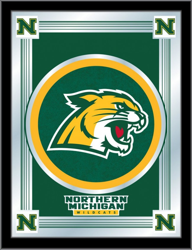 Northern Michigan University Logo Mirror