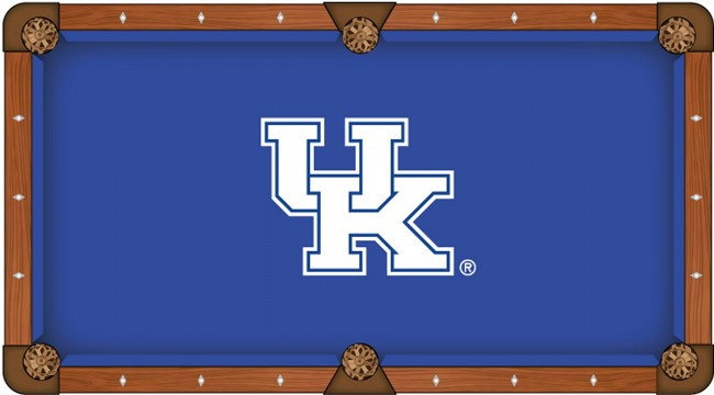 university of kentucky uk block pool table cloth by covers by hbs