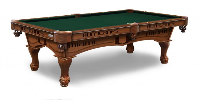 Marvelous University Of Miami Hurricanes Pool Table