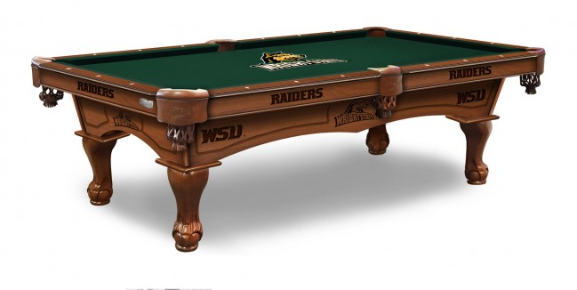 Attractive Wright State Raiders Billiard Table With Logo Cloth