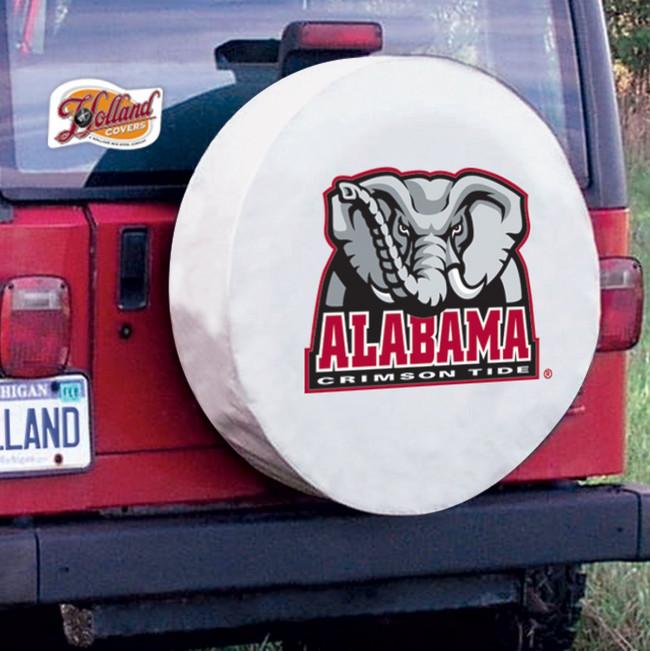 University Of Alabama Elephant Logo Tire Cover White