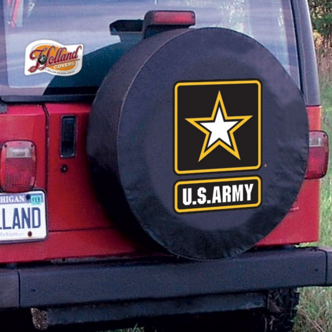 Us Army Logo Tire Cover Black